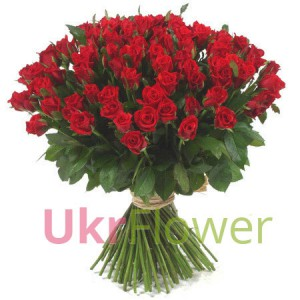 100 red roses ― Ukrflower - flower delivery