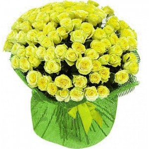101 yellow roses ― Ukrflower - flower delivery