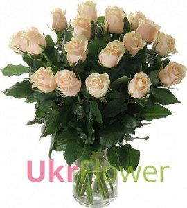 Bouquet of cream roses ― Ukrflower - flower delivery