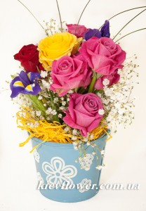 "Composition in a bucket ""Marta "" ― Ukrflower - flower delivery"