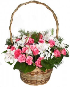 "Basket ""Waltz of the Flowers "" ― Ukrflower - flower delivery"