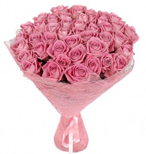 "Rose Bouquet ""Pink Flamingos "" ― Ukrflower - flower delivery"