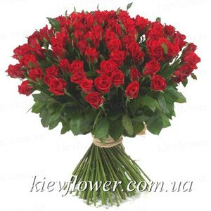Sale - 101 red rose ― Ukrflower - flower delivery