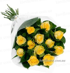 11 yellow roses ― Ukrflower - flower delivery
