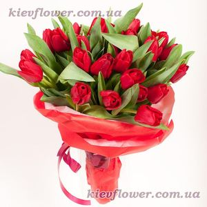 25 red tulips ― Ukrflower - flower delivery