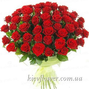 "Bouquet of Roses 55 ""Grand Prix "" ― Ukrflower - flower delivery"