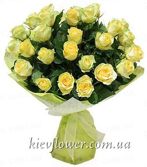 Bouquet of yellow roses ― Ukrflower - flower delivery