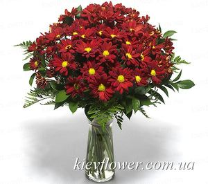 Bouquet of purple chrysanthemums ― Ukrflower - flower delivery