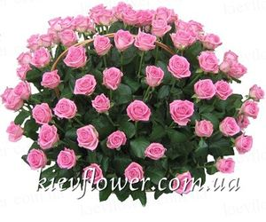 "Basket of roses ""Pink Dream "" ― Ukrflower - flower delivery"