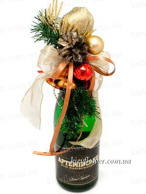 Decorated Champagne 3 ― Ukrflower - flower delivery