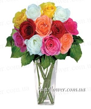"A bouquet of 11 roses ""just because "" ― Ukrflower - flower delivery"