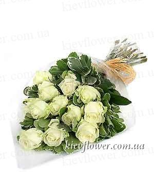 With Love - 15 white roses ― Ukrflower - flower delivery