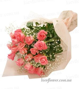 "Bouquet ""Duet ""15 roses ― Ukrflower - flower delivery"