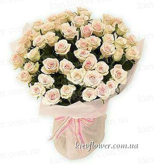 "Bouquet ""Flamingo ""51 cream roses ― Ukrflower - flower delivery"