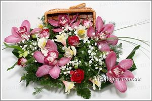 Casket of Orchids ― Ukrflower - flower delivery