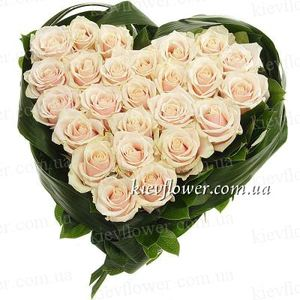 "Heart of Roses ""The most delicate"" ― Ukrflower - flower delivery"