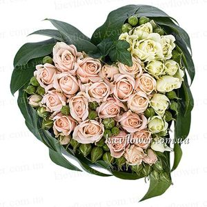 "The heart of ""The most beautiful girl in the world!"" ― Ukrflower - flower delivery"