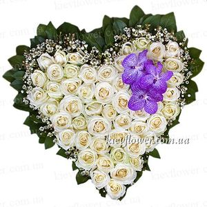 "Heart of roses ""You - my angel"" ― Ukrflower - flower delivery"
