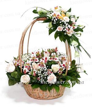 "Basket ""With Tenderness and Love"" ― Ukrflower - flower delivery"