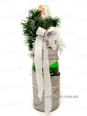 Decorated Champagne 1 ― Ukrflower - flower delivery