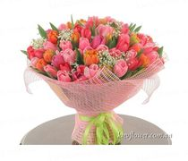 "Bouquet ""I Love You! ""101 tulip"