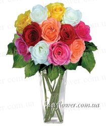 "A bouquet of 11 roses ""just because """