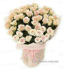 "Bouquet ""Flamingo ""51 cream roses"